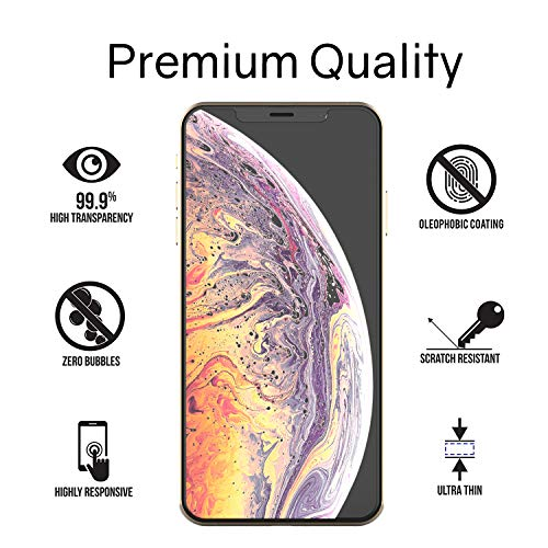 iPhone Xs MAX Screen Protector Tempered Glass, Full Cover Screen Shield [No UV Light Included] Backup Kit by Whitestone for Apple iPhone 10s MAX (2018) - Replacement Only by Dome Glass (Image #2)
