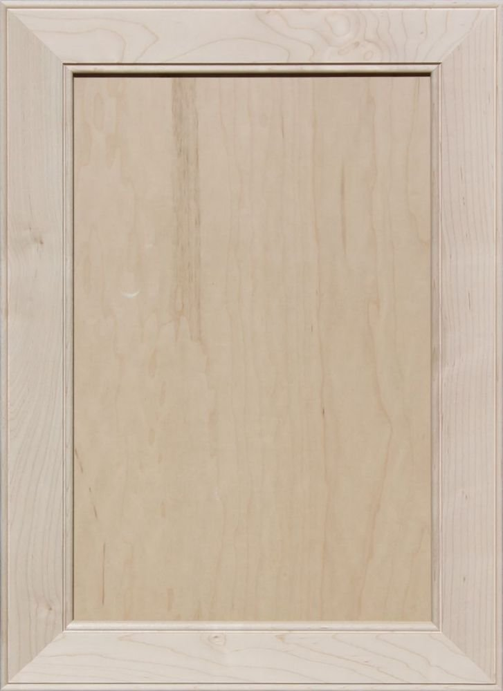 21H x 10W Unfinished Oak Square Flat Panel Cabinet Door by Kendor