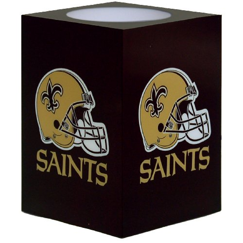 New Orleans Saints Football Candle (NFL New Orleans Saints Square Flameless Candle)