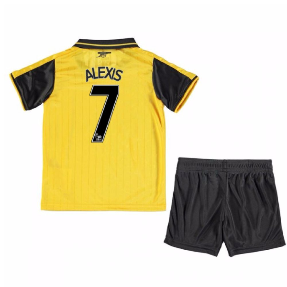 UKSoccershop 2016-17 Arsenal Away Mini Kit (Alexis Sanchez 7)