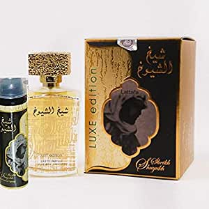 Lattafa Sheikh Al Shuyukh Lux Perfume and deodorant for men and women 100 ml