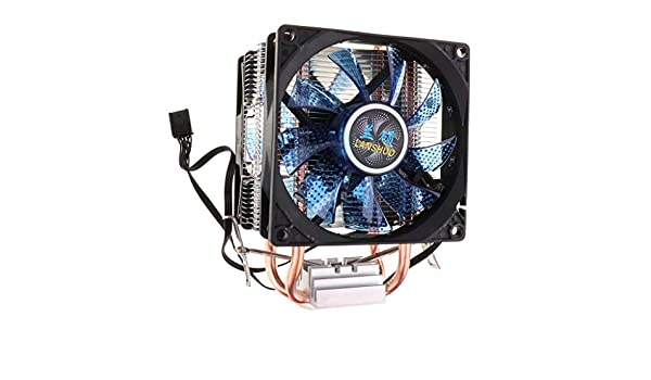 Quiet CPU Cooling Fan 4Pin Cable 12 LED CPU Cooler Gazechimp Dual Heatpipe Dual Blue