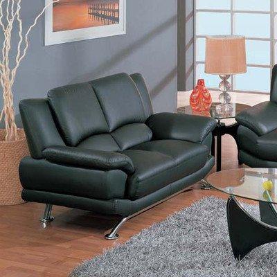 (Global Furniture Black Leather Loveseat)
