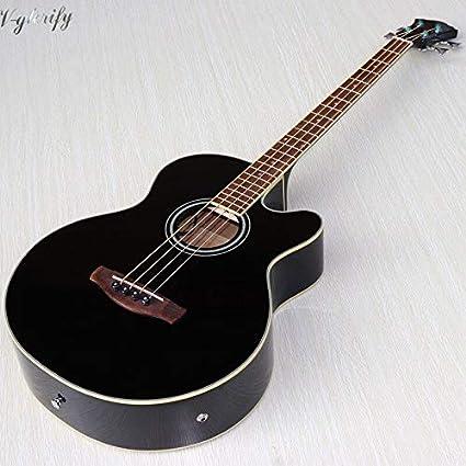 Guitarra acústica de 4 cuerdas de 43 pulgadas, color negro, diseño ...