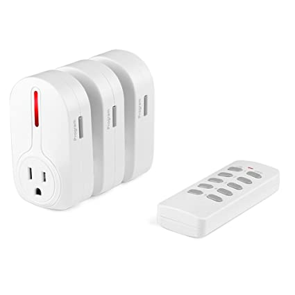 Flexzion Wireless Remote Control Outlet Switch 3 Pack Electrical