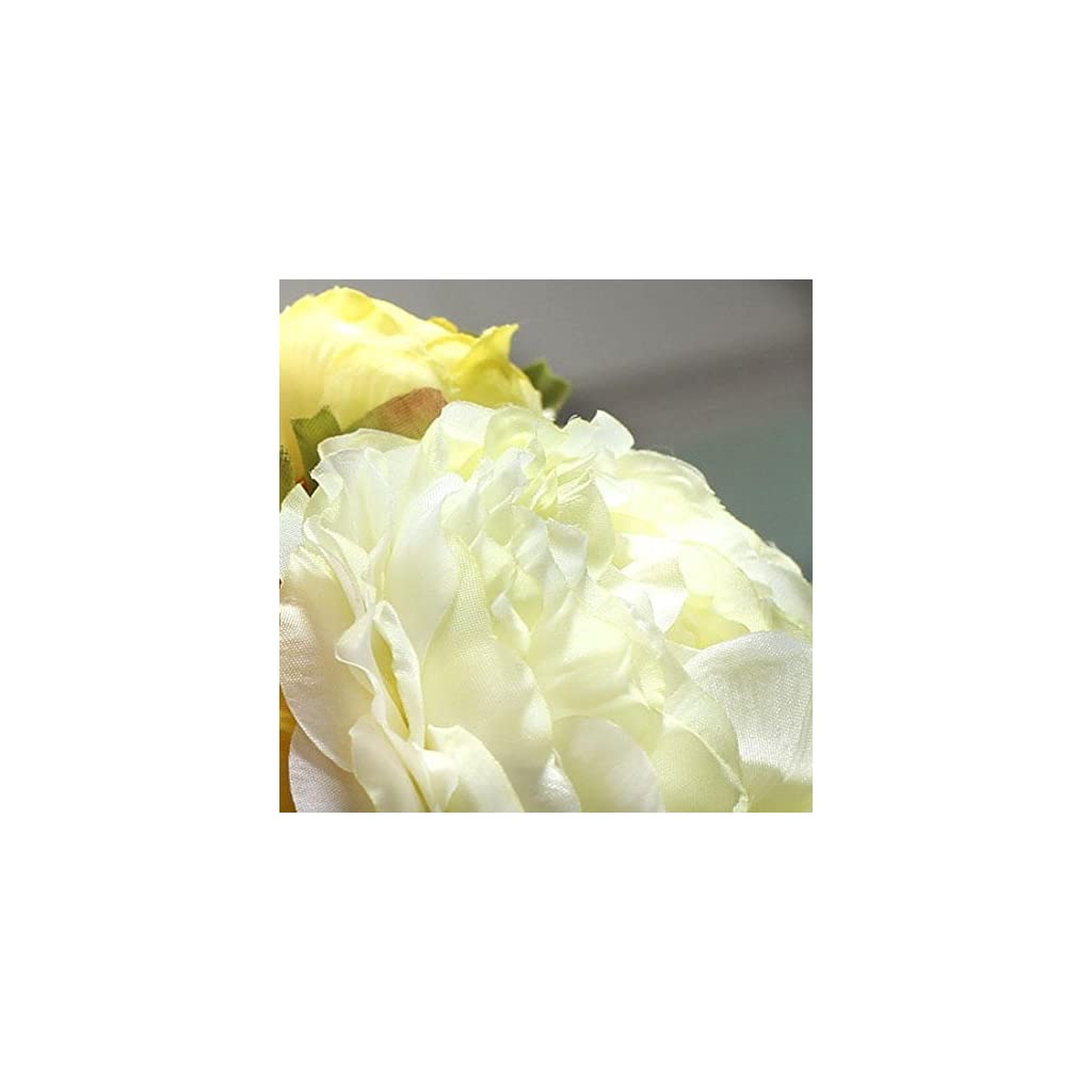 Factory Direct Craft Artificial Orange, Yellow and Cream Ranunculus Bloom Bouquet Bundle Tied with Raffia