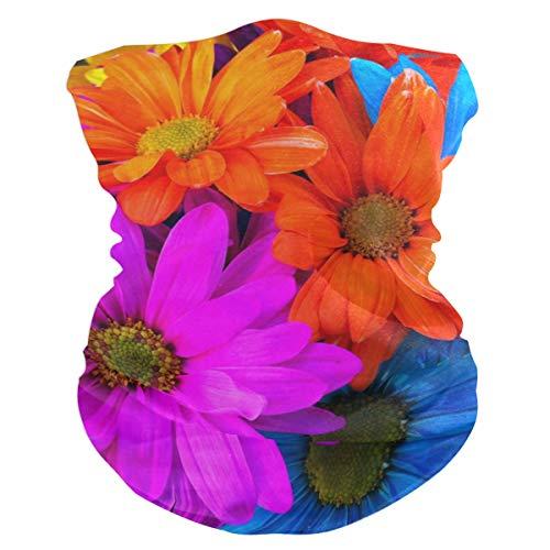 Colored Flowers Outdoor Magic Headband Multifunctional Elastic Seamless BandanScarf UV Resistence Sport Headwear