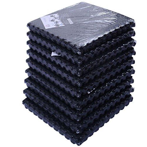 New 54 Tiles 216 Sq Ft Interlocking EVA Foam Floor Mat Flooring Gym Playground by Unknown