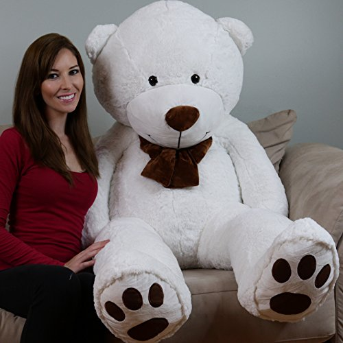 - YESBEARS 5 Foot Giant Teddy Bear Cream White (Love Pillow Included)