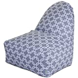 Majestic Home Goods Gray Links Kick-It Chair
