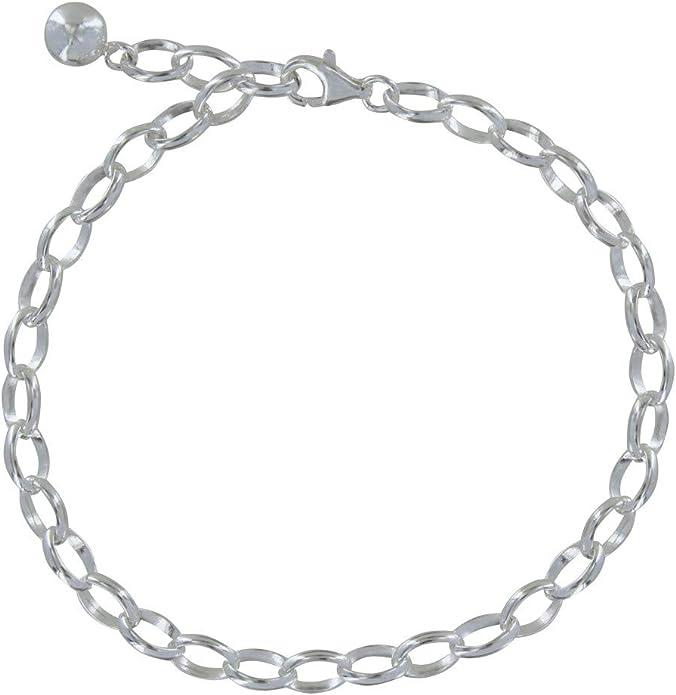 Top copia calidad pulsera con Charms y seguridad cadena joyas 19cm