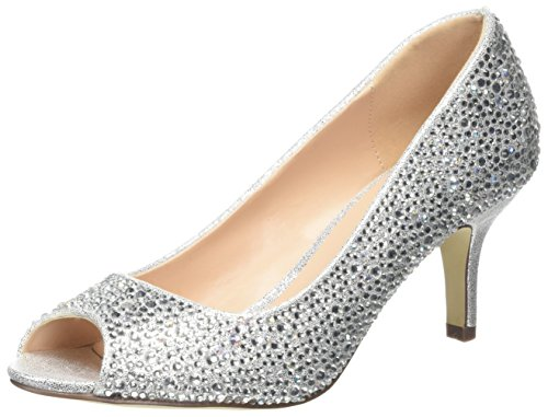 sale manchester great sale Pink by Paradox of London Women's Chantal Open-Toe Heels Silver (Silver) clearance wiki 4Hou6F