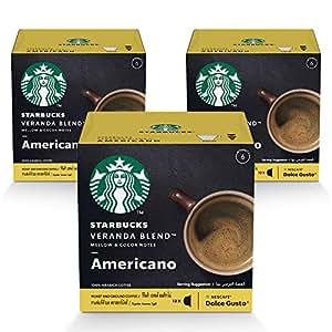 STARBUCKS Veranda Blend by NESCAFÉ Dolce Gusto Blonde Roast Coffee (3X12 Capsules)