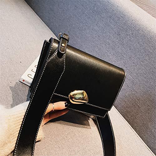 Borsa Saddle Simple Square Shoulder Small Xmy semicerchio Semicerchio Wild Bag Simple rosso rXq8r14