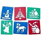 6 Plantillas Lavable Plástico Navidad