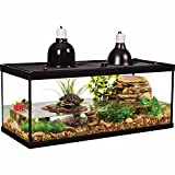 Tetra Aquatic Turtle Deluxe Kit 20 Gallons, Aquarium With Filter And Heating Lamps