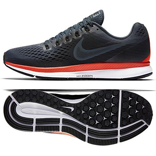 new concept bcd84 e3b7b Nike Men s Air Zoom Pegasus 34, Blue Fox Black-Bright Crimson, 14