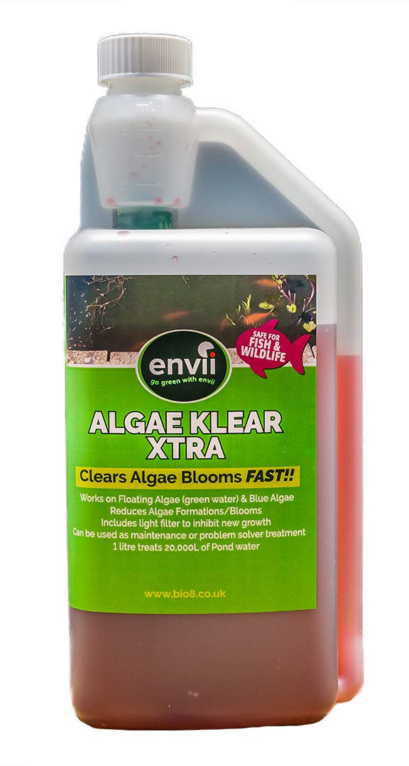 Envii Algae Klear Xtra – Pond Algae Killer Kills Submerged Blanket Weed & String Algae – Treats 20,000 Litres Bio8