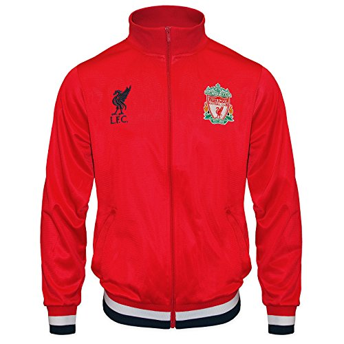 Liverpool FC Official Soccer Gift Mens Retro Track Top Jacket Red Large