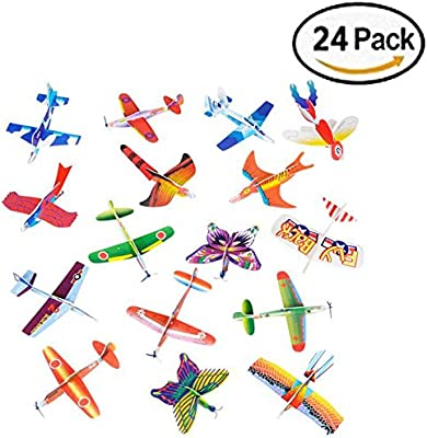24 Pack Assorted Styles Bilinny Novelty Glider Planes
