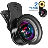 Cell Phone Camera Lens Kit – VIEWOW HD 7 Optical Glasses, 15X Macro 0.45X Wide Angle Phone Lens Kit with LED Light and Travel Case, Compatible with iPhone X/XS, Samsung,Pixel