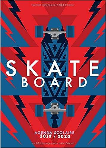 Amazon.com: Agenda Scolaire 2019 2020 Skateboard: Agenda ...