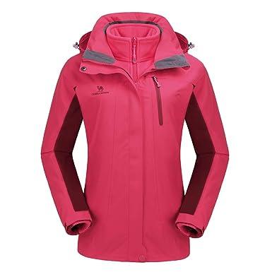 ceada6ae CAMEL CROWN Women's Ski Jacket Waterproof 3-in-1 Outdoor Mountain Windproof  Fleece Warm Coat for Rain Snow Hiking