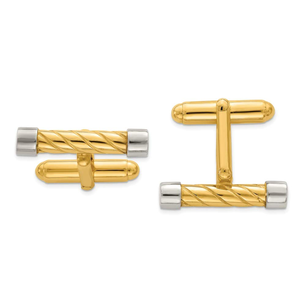 Beautiful Sterling silver 925 sterling Sterling Silver /& Vermeil Bar Cuff Links