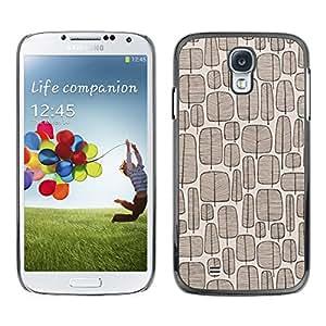 X-ray Impreso colorido protector duro espalda Funda piel de Shell para SAMSUNG Galaxy S4 IV / i9500 / i9515 / i9505G / SGH-i337 - Tree Vintage Wallpaper Brown Pattern