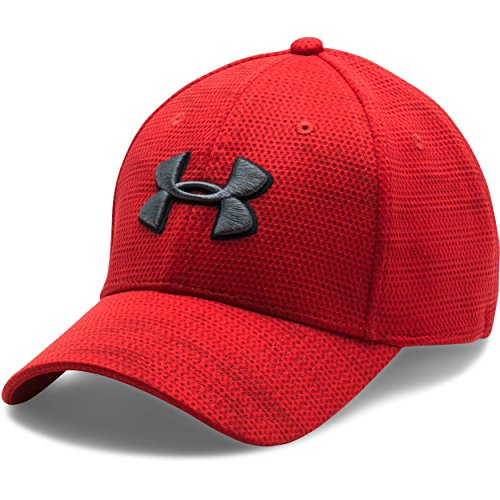 Under Armour Men's UA Printed Blitzing Stretch Fit Cap Large/X-Large Red
