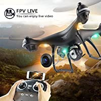 BEEYEO GPS FPV RC Drone with 1080P HD Camera Live Video and GPS Return Home Quadcopter, Follow Me Mode, Altitude Hold, Intelligent Battery Long Control Range by BEEYEO
