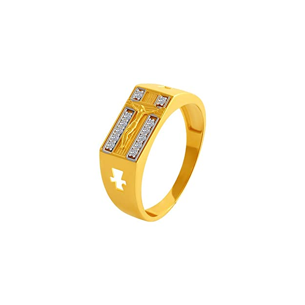 P.C. Chandra Jewellers 10KT Yellow Gold Ring for Men Rings