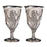 Design Toscano Dragon Pewter Goblets with Gift Box (Set of 2)