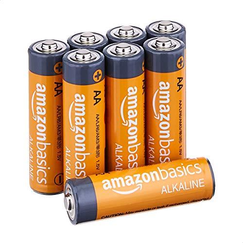 AmazonFundamentals AA 1.5 Volt Performance Alkaline Batteries - Pack of 8