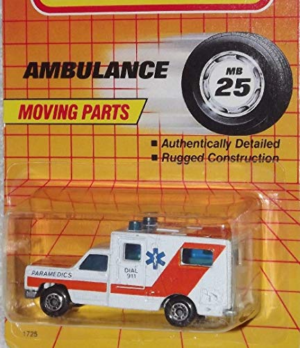 Matchbox MB24 White Orange Ambulance