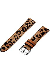 Fossil Women's S201015 20mm Leather Watch Strap - Cheetah Print