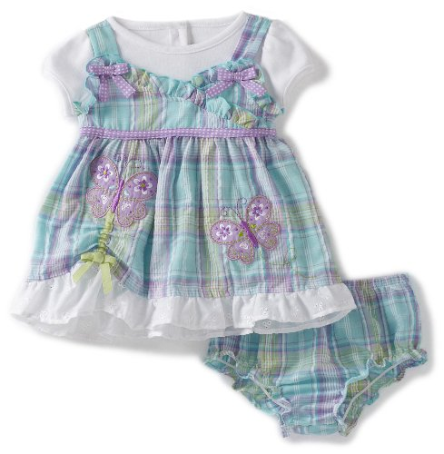Youngland Baby Girls' Mock Seersucker With Pick Up Hem And Diaper Cover