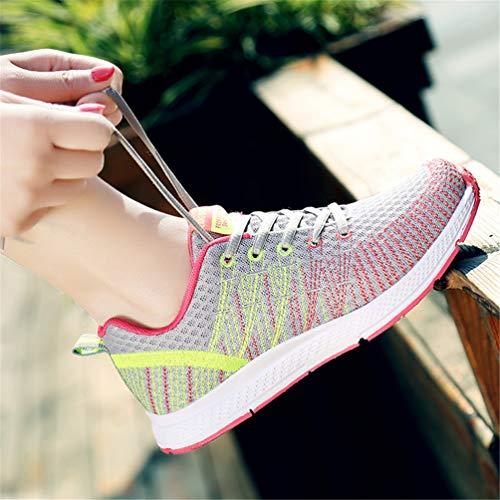 Deportivas de Las Zapatos Gris la Zapatillas B Mujeres Onda de Transpirable 8AqBw1
