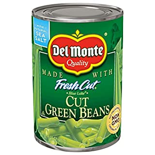 Del Monte Canned Fresh Cut Blue Lake Green Beans, 14.5 Ounce (Pack of 12)