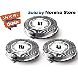 SH30 Replacement Heads for Philips Norelco Series 1000, 2000, 3000 Shavers and S738 Click and Style(3 packs)(Fulfilled by Amazon)
