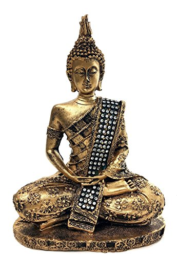 bombayjewel Thai Buddha Meditating Peace Harmony Statue, 8