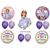 GIRL'S 1ST BIRTHDAY SOFIA THE FIRST PARTY Balloons Decorations Supplies Disney by Anagram