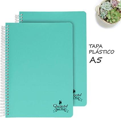 Quijote Paper World Pack 2 Cuadernos Espiral, Con Doble Raya ...