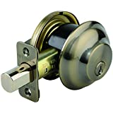 Brinks 4301-109 Maximum Security Single Cylinder Deadbolt, Antique Brass