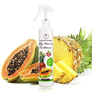 Leave in Conditioner Spray, Hair Detangler Spray for Women, Men and Kids, Curly Hair, Natural Hair, Vegan and Cruelty Free- 8.5 fl oz by Papaya and Pineapple