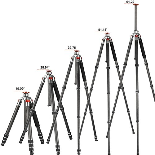 K&f Concept Carbon Fiber Camera Tripod 4 Section 61 Inch with Load Capacity 26.46lbs Monopod for Camera DSLR DV Canon Nikon Sony by K&F Concept (Image #7)