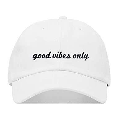 e8a9e254bdea suzhouxiuyingjinchukou Good Vibes Only Baseball Hat, Embroidered Dad Cap,  Unstructured Soft Cotton, Adjustable Strap Back (Multiple Colors)  Amazon.de   ...