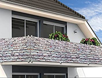balcony privacy screen wind protection 5m panelling patio sun wind shade fence protective screening