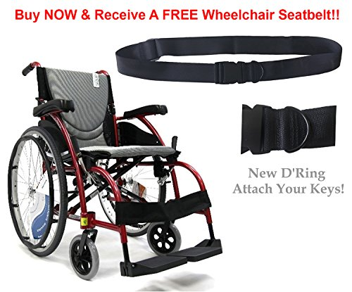 New Karman S-Ergo 105  Ergonomic Wheelchair with Fixed Footr
