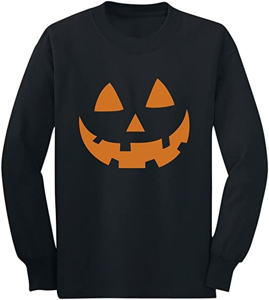 Pumpkin Face Jack O/' Lantern Halloween Costume Toddler//Kids Long sleeve T-Shirt